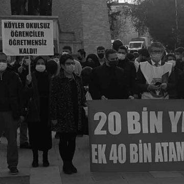 Atanamayan öğretmenler Çınar'da toplandı 60 bin atama daha istedi