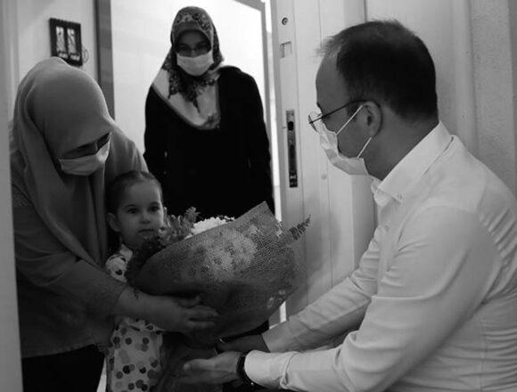 Başkan Örki şehit ve gazilerin emanetlerini unutmadı