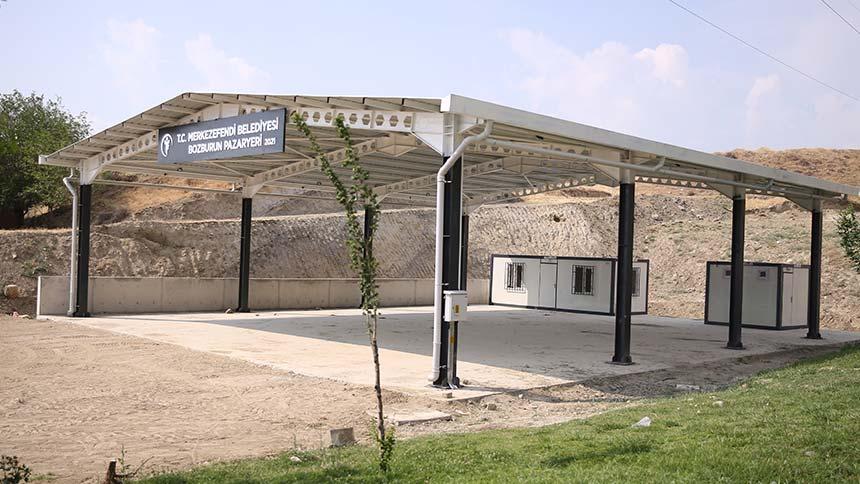 Bozburun'da yeni pazar yerinin yapımı tamamlandı