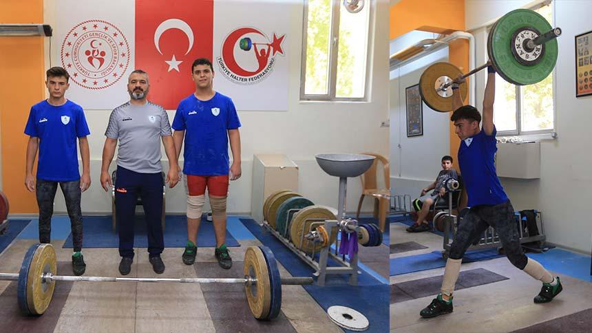Pamukkaleli halterciler Türkiye şampiyonasına hazır