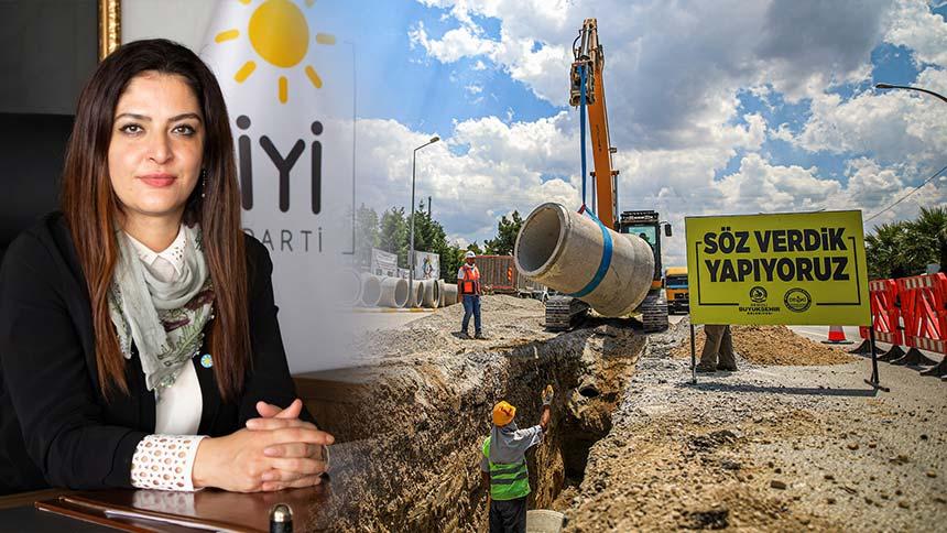 İYİ Partili Akışık, belediyeyi hedef aldı: Tankerlerle insanlara su vermeye çalışıyorlar