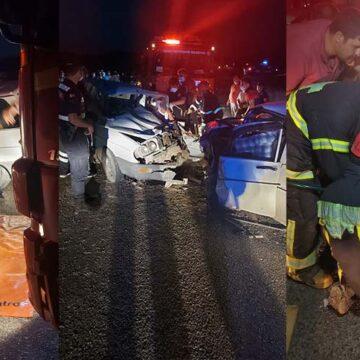 Denizli'de korkunç kaza: 1 ölü 4'ü çocuk 9 yaralı