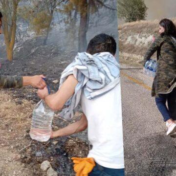 İl başkanı yangını söndürmek için Türlübey'e koştu