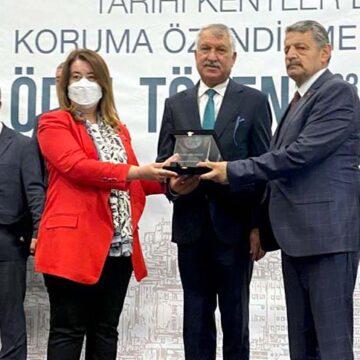 Pamukkale Belediyesi ödülünü aldı