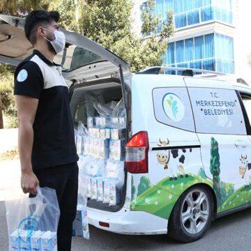 Merkezefendi Belediyesi 7 bin 500 çocuğa süt dağıtıyor